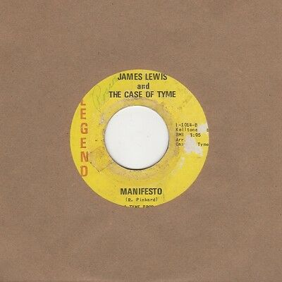 James Lewis And Case Of Tyme - Manifesto / Some Call It Love - Legend 1st Vinyl