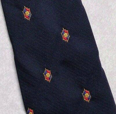 CLUB ASSOCIATION TIE BY TOOTAL VINTAGE RETRO NAVY CREST COMPANY LOGO 1970s 1980s