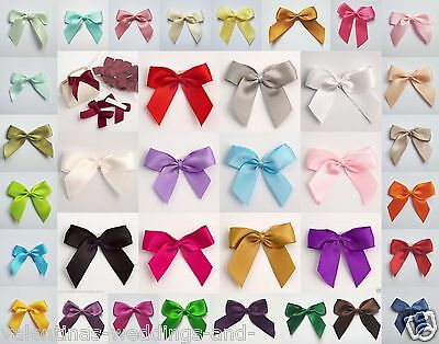 Self Adhesive Large 5cm Pre Tied Satin Bows Cards Favours Crafts Embellishment