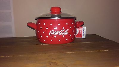 Coca cola - enamelled pot with glass lid-CROATIA only 2000 pcs produced - BEAUTY
