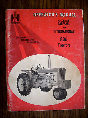IH Farmall Mccormick International 806 Owners Manual