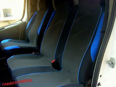 Ford Transit Mk 7 (06-13) BLUE MotorSport VAN Seat COVERS - Single + Double