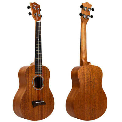 Solid Mahogany Top Tenor Ukulele 26 inch Hawaii Guitar Bridge Matt