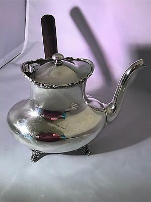 Reed & Barton Silver Soldered Teapot Vintage Handle  012-H Dining And Serving