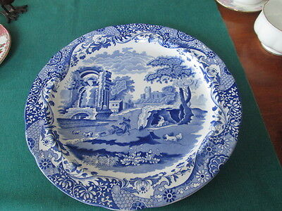 """Spode Italian Blue Large Round Chop Plate 12"""" Wide"""