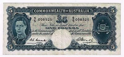 Australia Commonwealth £5 ND (1949) Coombs/Watt Pick 27c Renniks 47.