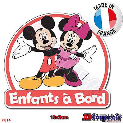 Sticker autocollant Enfants à Bord - Mickey Minnie Bébé Voiture Auto