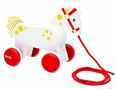 BRIO 130 Anniversary Pull Along Horse Baby Toy
