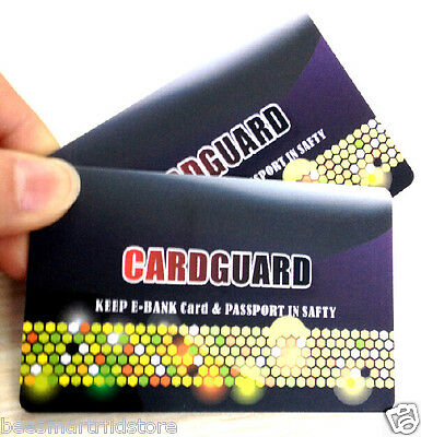 2 X Rfid Blocking Cards // Be Smart // Protect Your Identity !