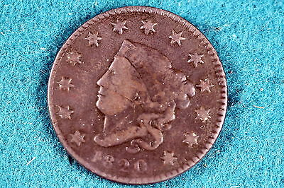 ESTATE FIND 1820 CORONET HEAD Large Cent!! #G3600