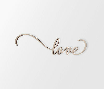 "Wall Art Word Cutout ""love"" - Cutout, Home Decor, Unfinished"
