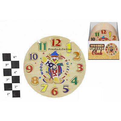 Childrens Kids Learning Wooden Clock Educational Toy Games  UK TOP SELLER