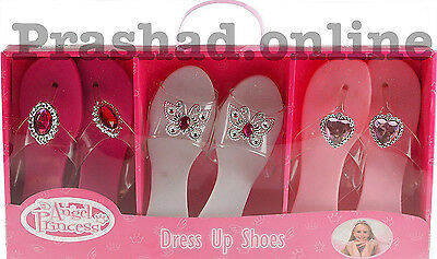 Angel Princess Dress up Play Shoes Girls Toy Pretend Glam Roleplay Set UK STOCK