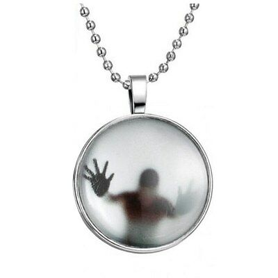 Fashion Glow in the Dark Charm Pendant Stainless Steel Chain Necklace Jewel D5G5
