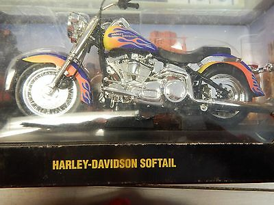Hot Wheels Collectibles Harley-Davidson Softail 1:10 Scale Motorcycle New In Box