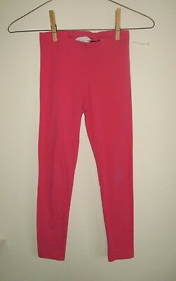 H&m Bright Pink Casual Leggings! Girls Size 7/8!