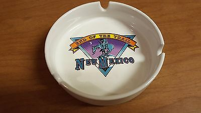Ceramic NEW MEXICO End of the Trail Souvenir Ashtray - Brand New - 4 Available