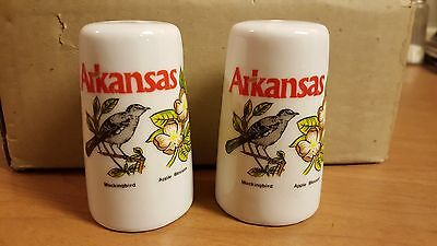 (6 sets) Arkansas Souvenir Ceramic Salt & Pepper Shakers - Brand New!