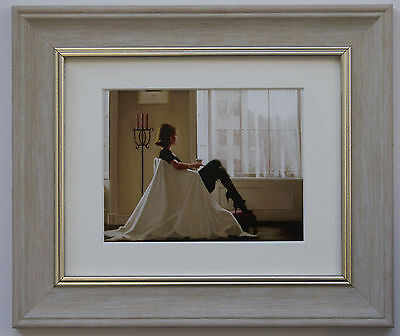 In Thoughts of You by Jack Vettriano Framed & Mounted Art Print Grey