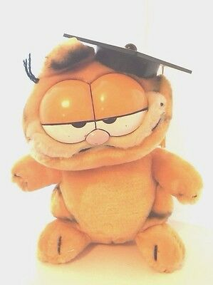 Garfield Graduate / Bachelor / Postgraduate Gift Soft Plush Vintage Toy 1981