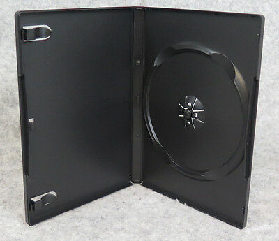 100 14mm Single Black DVD Cases Empty Standard Size NEW