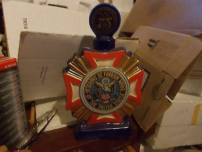 Vfw 1973 Ezra Brooks Bottle - 75 Years For The Vfw - 44 Years Old - Vintage