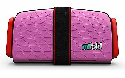 Pre-owned mifold Grab-and-Go Car Booster Seat, Perfect Pink