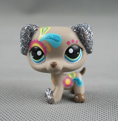 Littlest Pet Shop LPS #2344 Gift Glitter Puppy Sparkle Tattoo Dalmatian Dog Toys