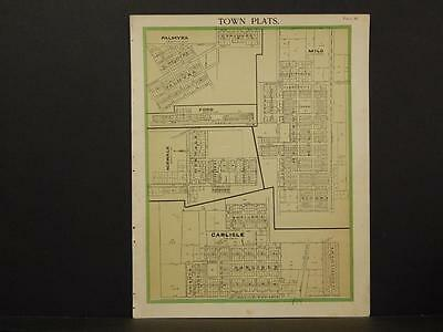 Iowa Warren County Map Palmyra Carlisle Milo Norwalk 1902  W2#15