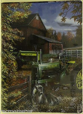 JOHN DEERE Metal Sign Tractor farm art print nature Deer barn vintage classic