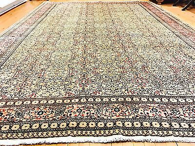 Beautiful Cr1930-1939s Antique 8x12ft Wool Pile Natural Dyes Hereke Rug