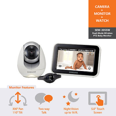 SEW-3055W - Samsung 5.0in Wireless Touch Screen Baby Monitor Night Vision & PTZ