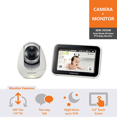 SEW-3053W - Samsung 5.0in Wireless Touch Screen Baby Monitor Night Vision & PTZ