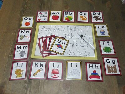 Trace The Alphabet A to Z  Flash cards - Kids Toddlers Preschool Learning Autism