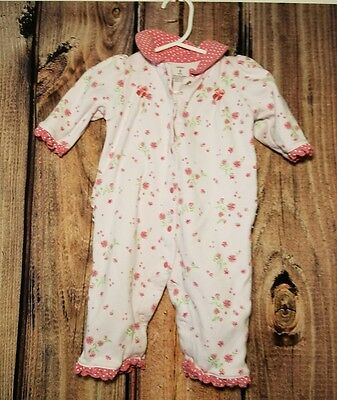 CARTER'S Pink Floral One Piece Shirt Top Bottoms Baby Size 6 Months Girls