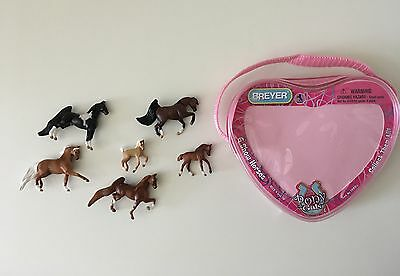 Breyer Mini Whinnies set 6 horses & pouch Show Horses