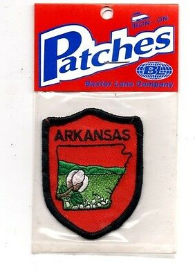 Arkansas Apple Blossom Travel Souvenir Patch - Brand New - Free Shipping!