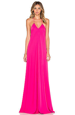 New Jill Stuart Openback Halter Dress Gown Size 6 $328 Peony Pink Nordstrom