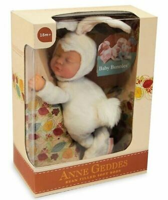 ANNE GEDDES 'Baby Bunny' Filled Soft Doll White - New in Box