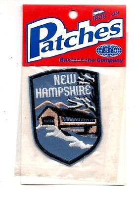 New Hampshire Snow Travel Souvenir Patch - Brand New - Free Shipping!