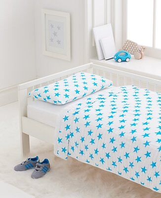 Aden + Anais Classic Toddler Bed In A Bag - Fluro Blue Kids Bedding Sets: