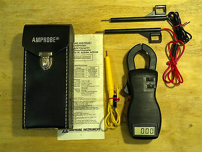 Amprobe ACD-8A Digital Multimeter Clamp Volt Meter with Leads and Case.