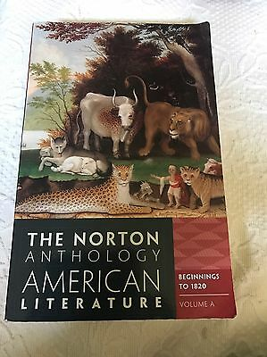 Norton Anthology of American Literature Vol. A (2011, Paperback)