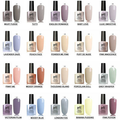 UK SELLER GDi Nails Nude Range UV/LED Soak Off Gel Nail Polish Top Base Coat AAA