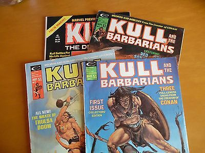 KULL and the Barbarians  – Issues 1, 2, 3, 19 – Vintage