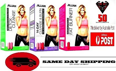 Jillian Michaels, 3 Parts (14-Day Cleanse & Burn) (Fat Burner) (Detox & Cleanse)