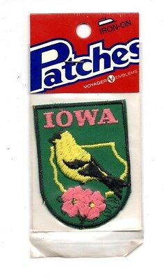Iowa Goldfinch Voyager Travel Souvenir Patch - Brand New - Free Shipping