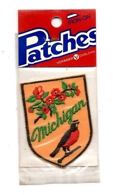 Michigan Robin Voyager Travel Souvenir Patch - Brand New - Free Shipping
