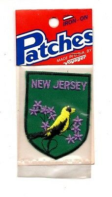 New Jersey Goldfinch Voyager Travel Souvenir Patch - Brand New - Free Shipping