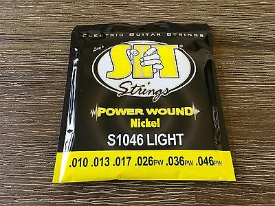 Electric Guitar Strings 2 Sets S.I.T. Power Wound Plus 8 Free Picks!